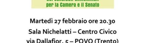 Invito 27.02.2018 Elezioni politiche - Presentazione candidati