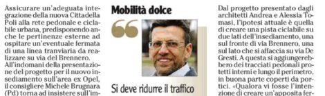 Via Brennero, nuovi insediamenti commerciali: attenzione a traffico e vivibilità. L'Adige 11/03/2019